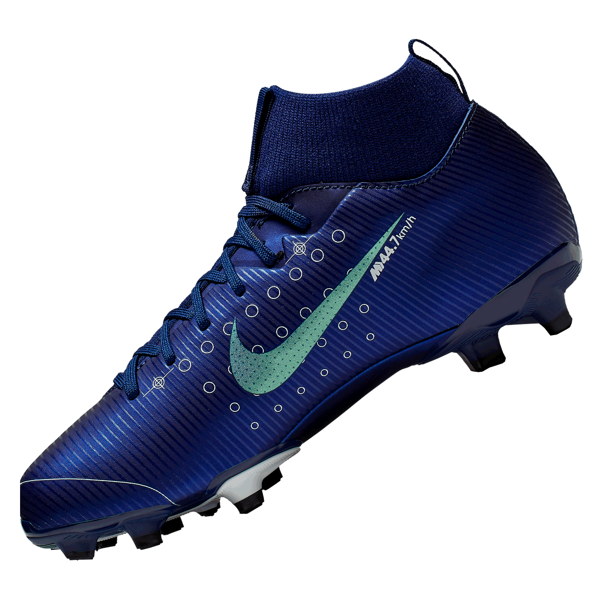 Nike kinderen voetbalschoenen Mercurial Superfly VII JR Academy MDS FGMG donkerblauwwit