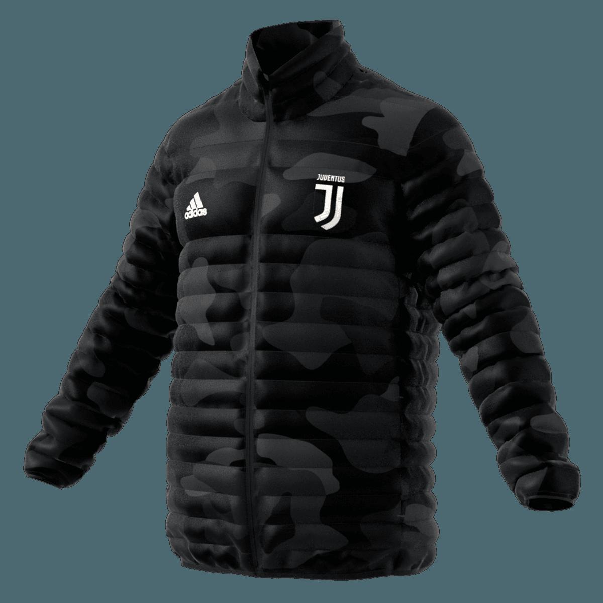 adidas Herren Juventus Light Down Fußball Jacke (schwarz