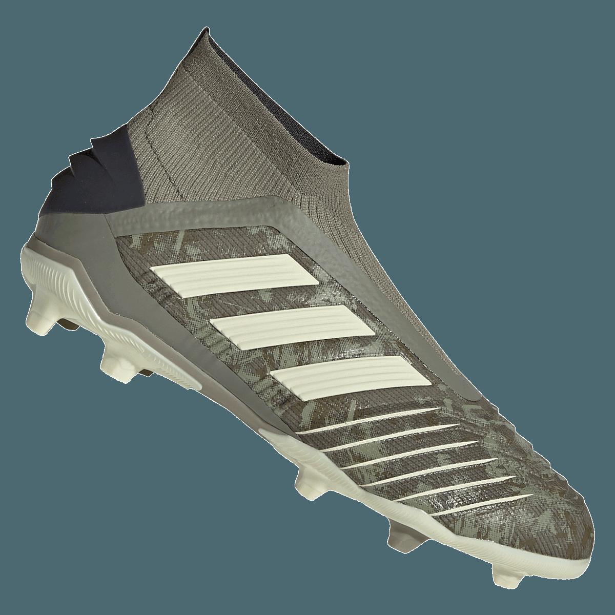 adidas Predator 19+ FG J gyerek futballcipő olívazöldbézs