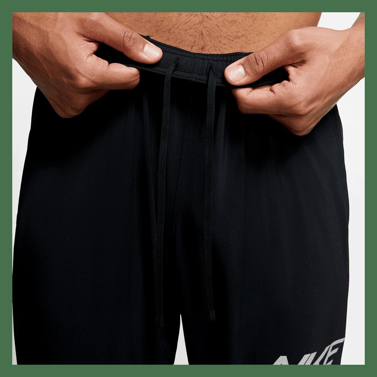 Nike Laufhose Essential Woven GX FL Pant schwarzsilber