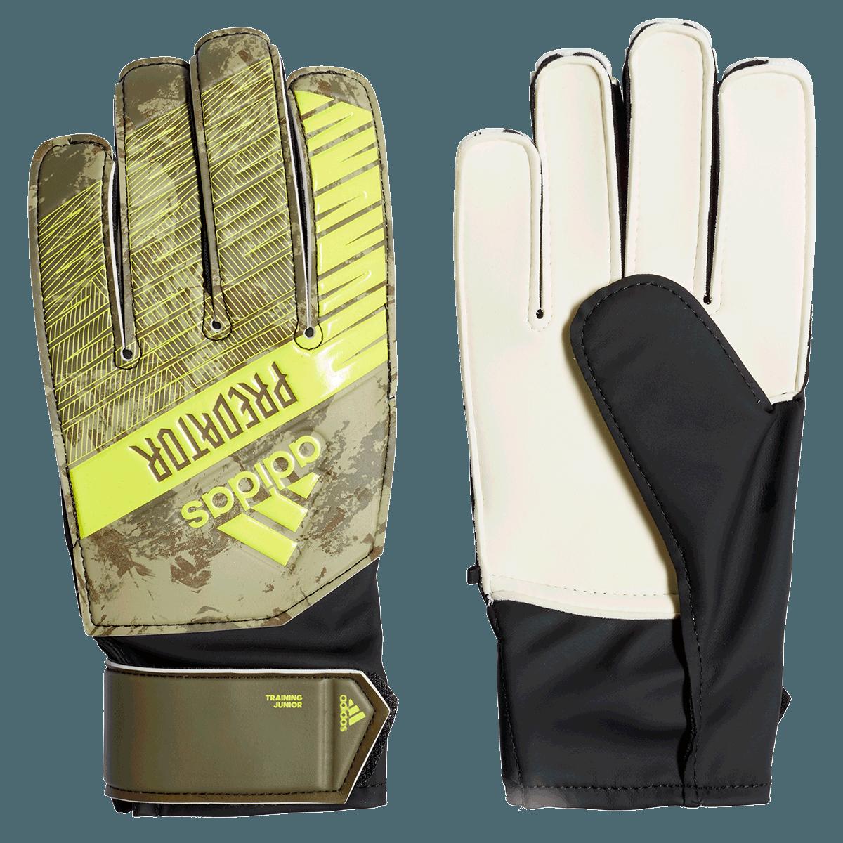 adidas kinderen keepershandschoenen Predator Training J lichtbruingroen fluo Voetbal shop