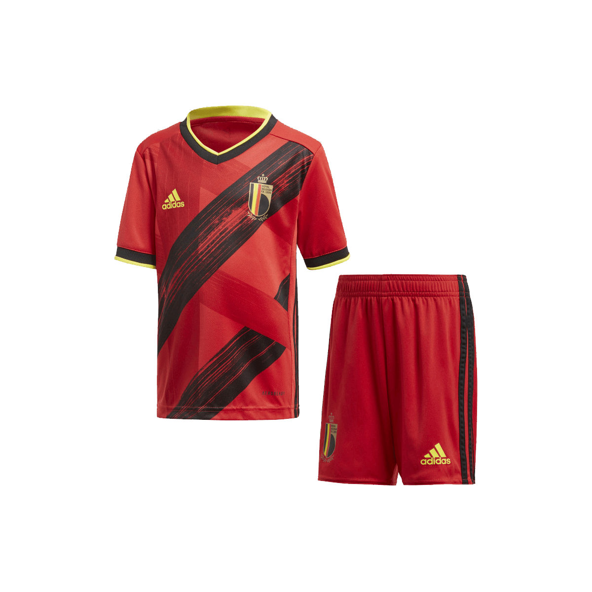 adidas Belgien Kleinkinder Heim Kit EM 2020 rotgelb