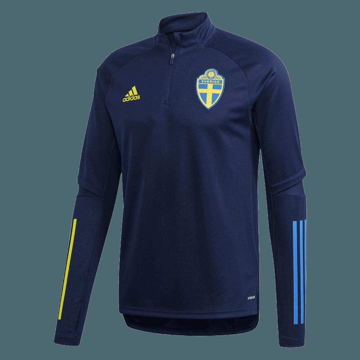 adidas Schweden Langarm Trainingsoberteil dunkelblaugelb