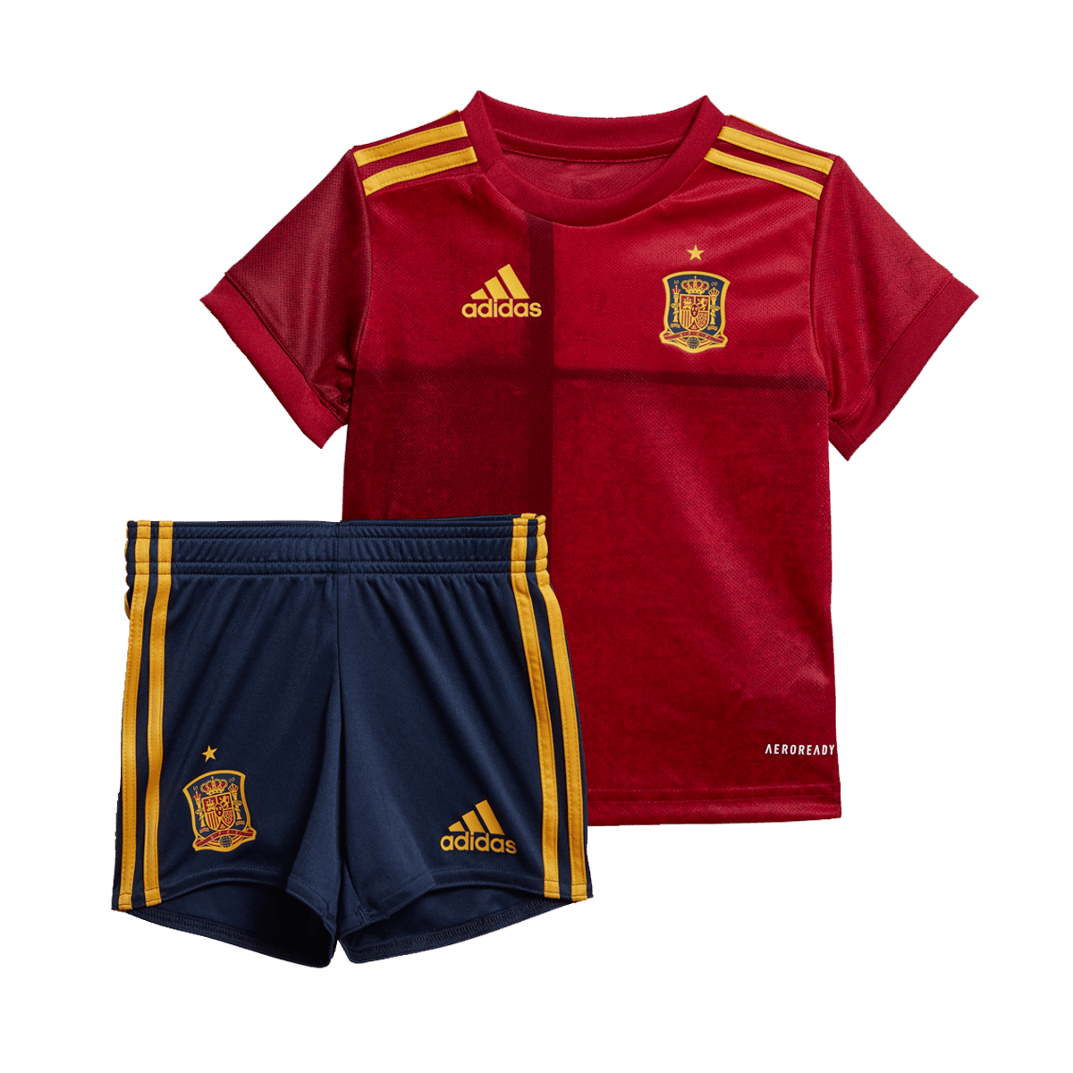 adidas Spanien Kinder Heim Short EM 2020 dunkelblaugelb
