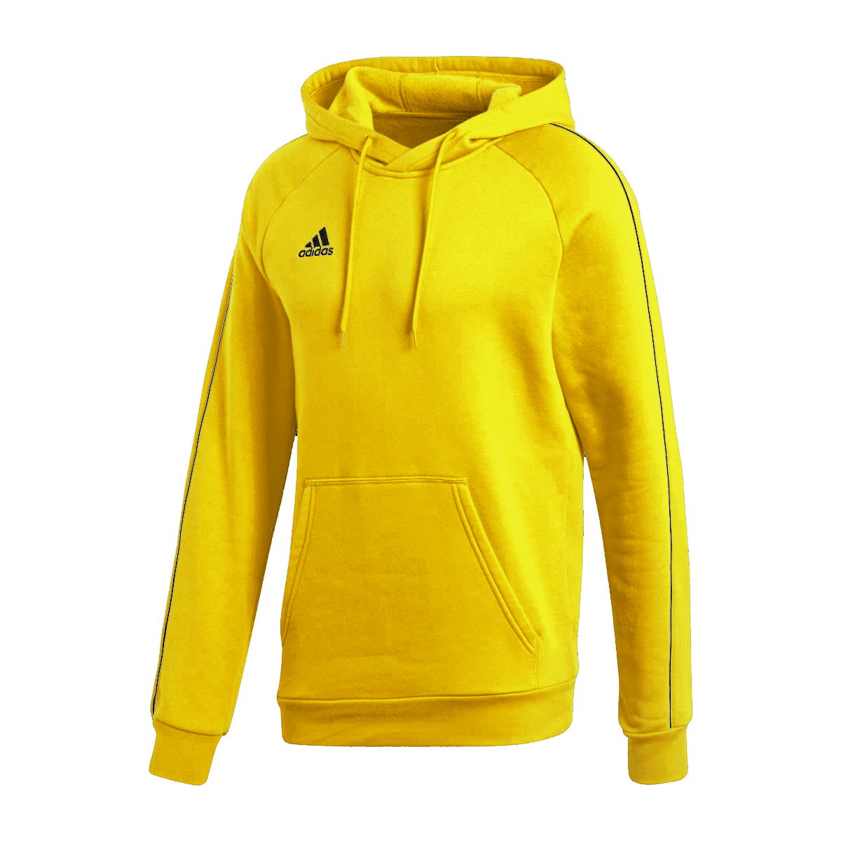 adidas Core 18 Hoody kapucnis pulóver sárgafekete Futball áruház