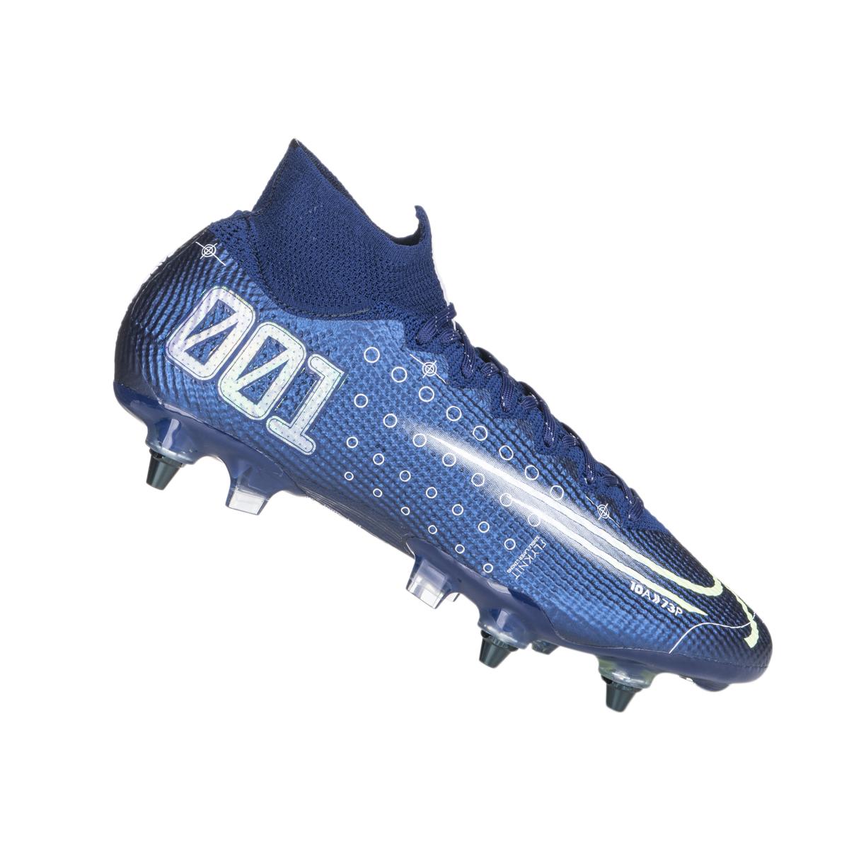 Nike Fußballschuh Mercurial Superfly VII Elite MDS SG Pro AC dunkelblauweiß
