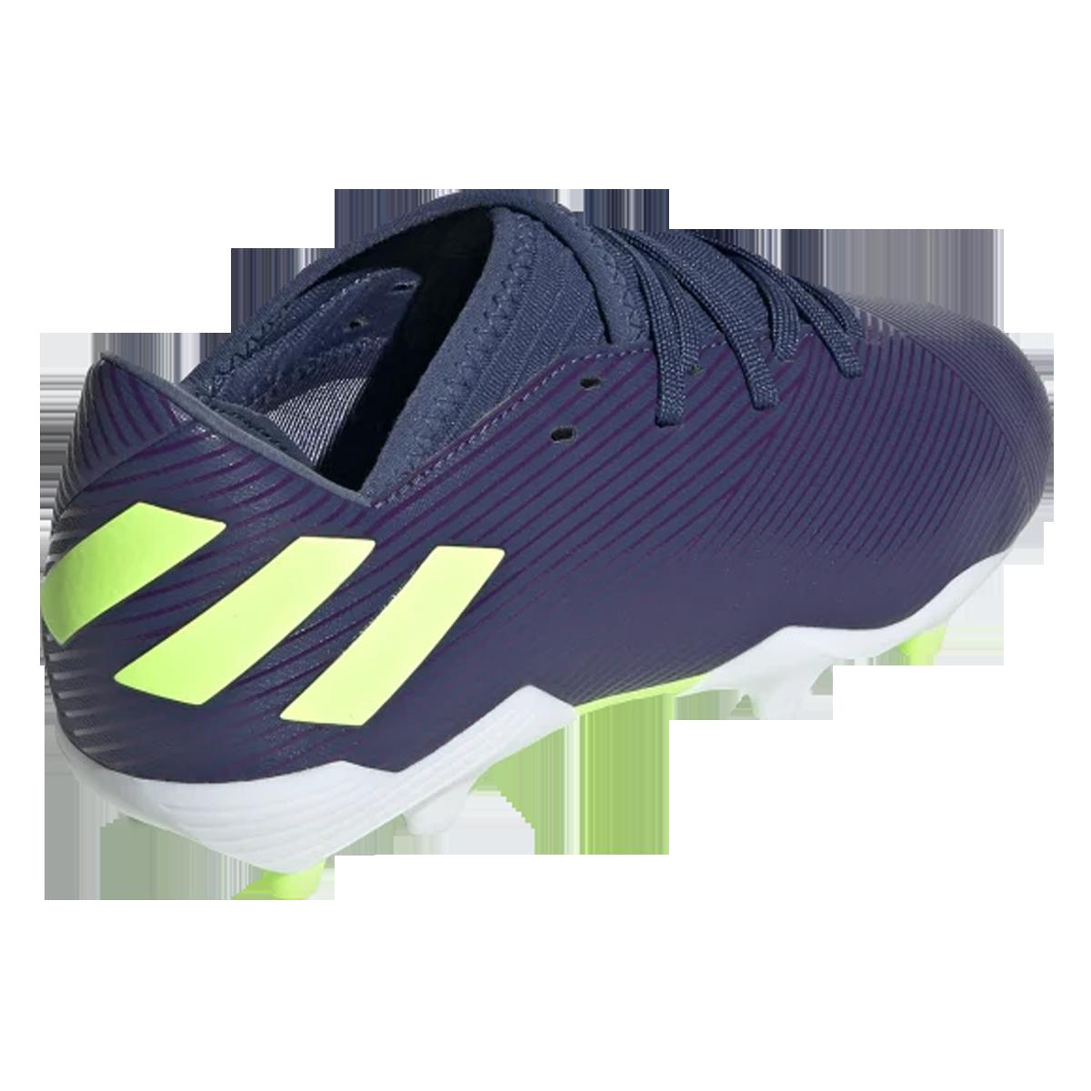 adidas Kinder Fußballschuh Nemeziz Messi 19.3 FG J dunkelblaugrün fluo