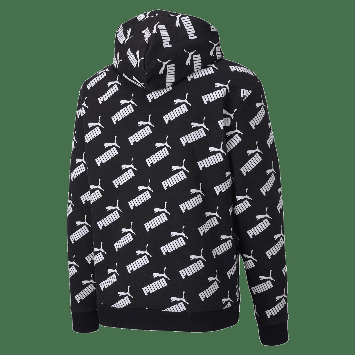 puma kapuzenpullover schwarz weiss
