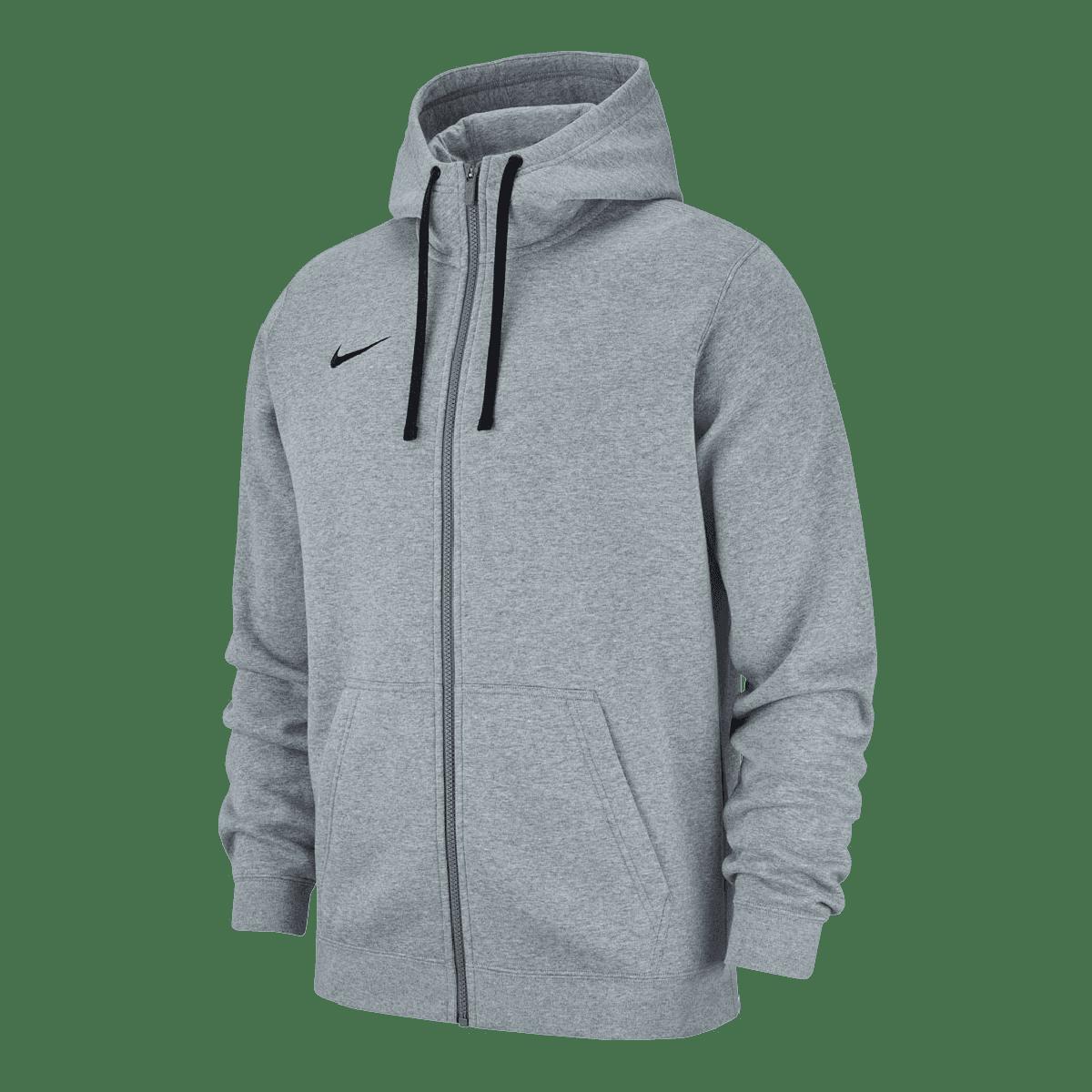 Nike Kapuzenjacke Team Club 19 Fleece Hoody hellgrauschwarz Fussball Shop