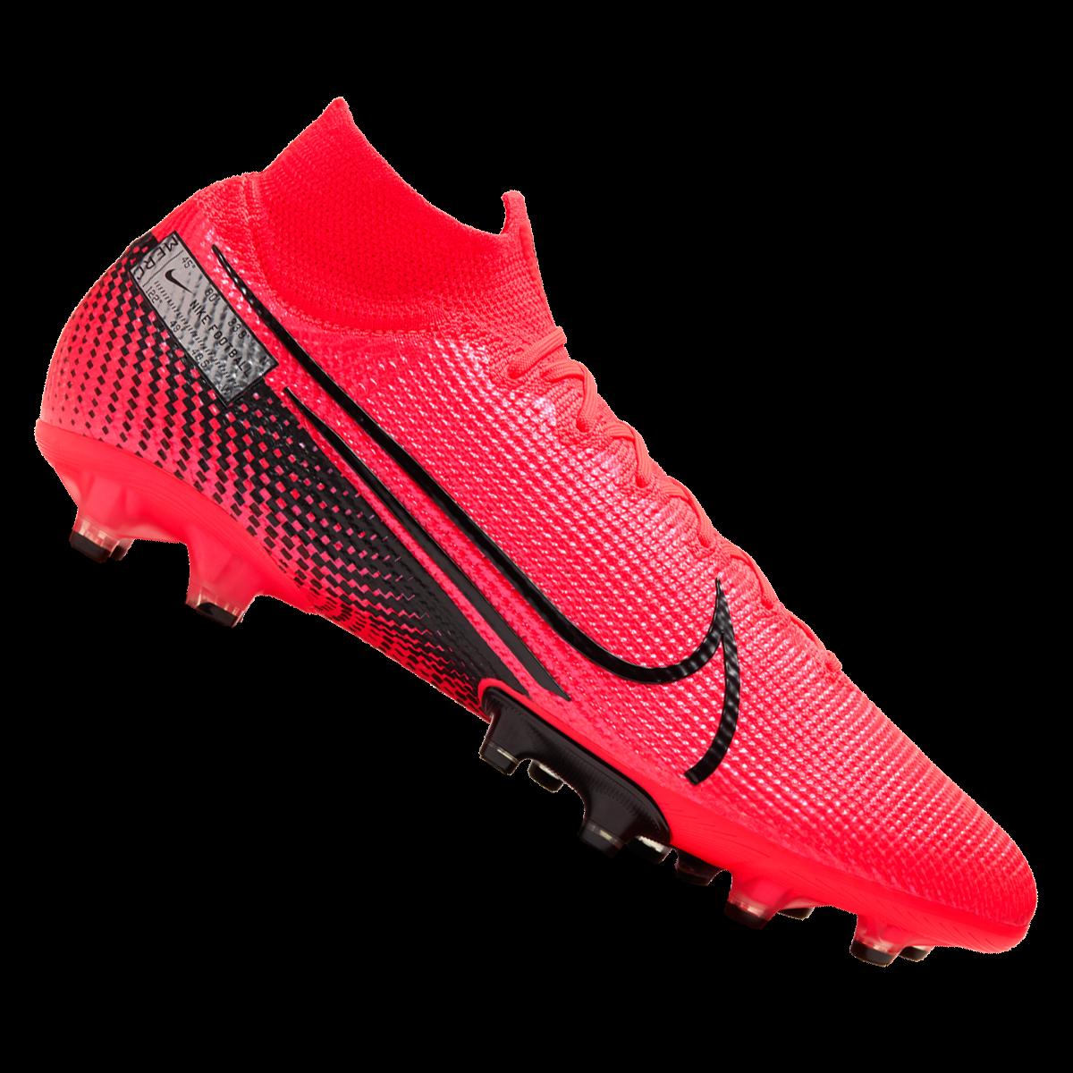 Nike voetbalschoenen Mercurial Superfly VII Elite AG Pro roodzwart