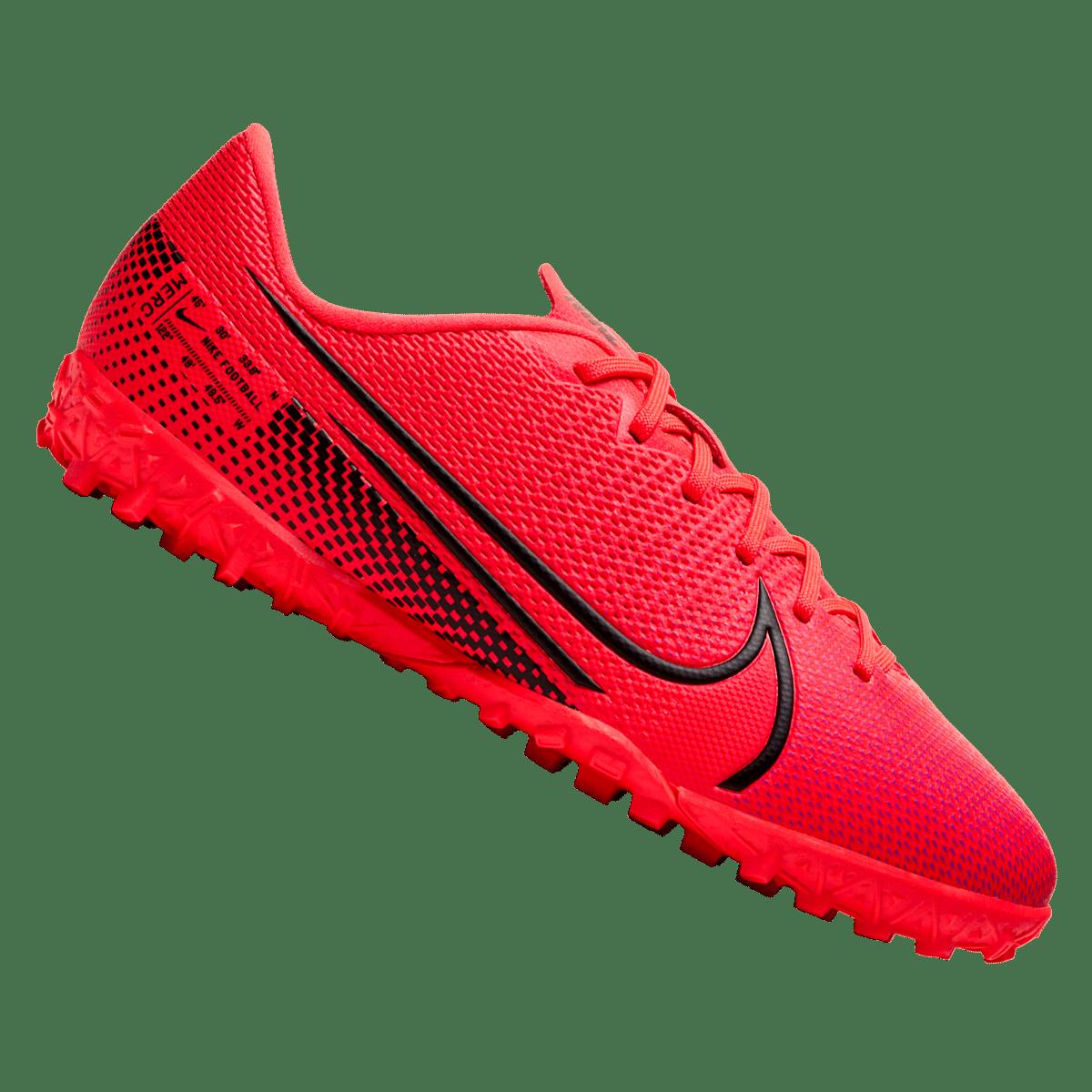 Nike Mercurial Vapor XIII Academy TF J műfüves gyerek futballcipő pirosfekete