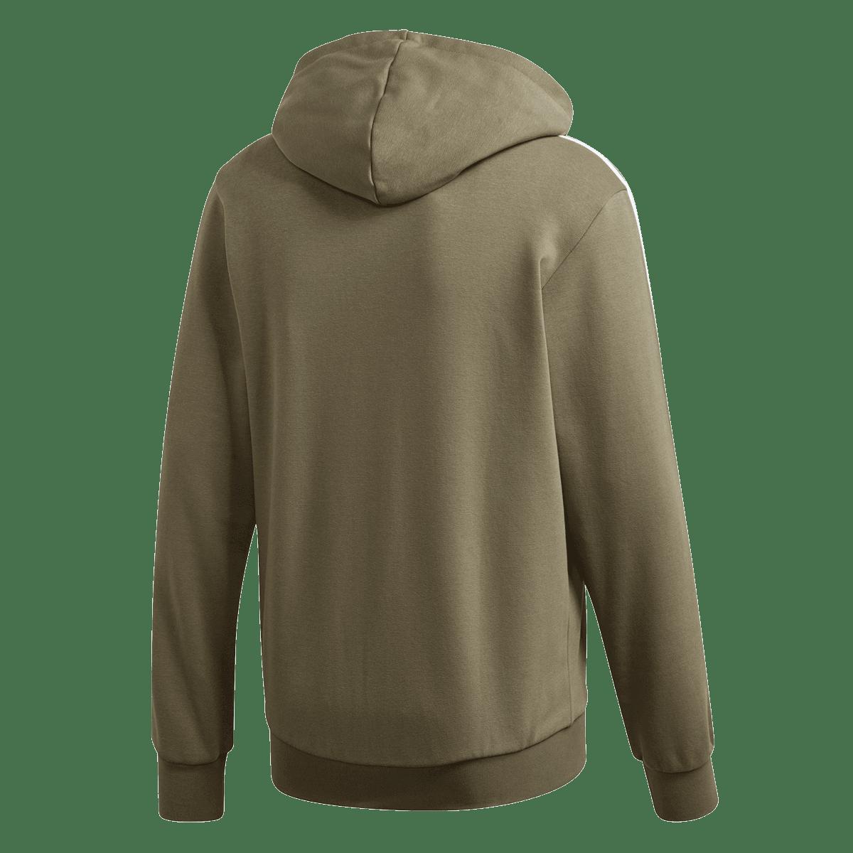 adidas bluza z kapturem Essential 3S FZ Fleece oliwkowabiała
