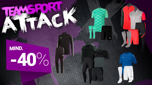 Teamsport Sale: Mind. -40%