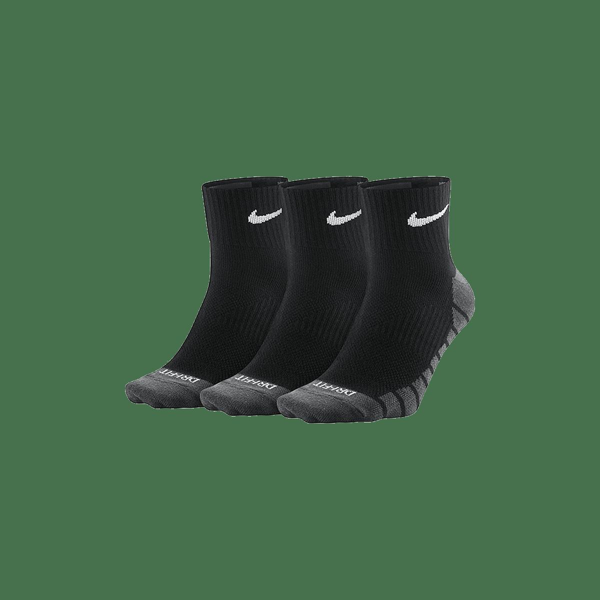 Lot de 3 paires de chaussettes Nike Lightweight Quarter noirgris