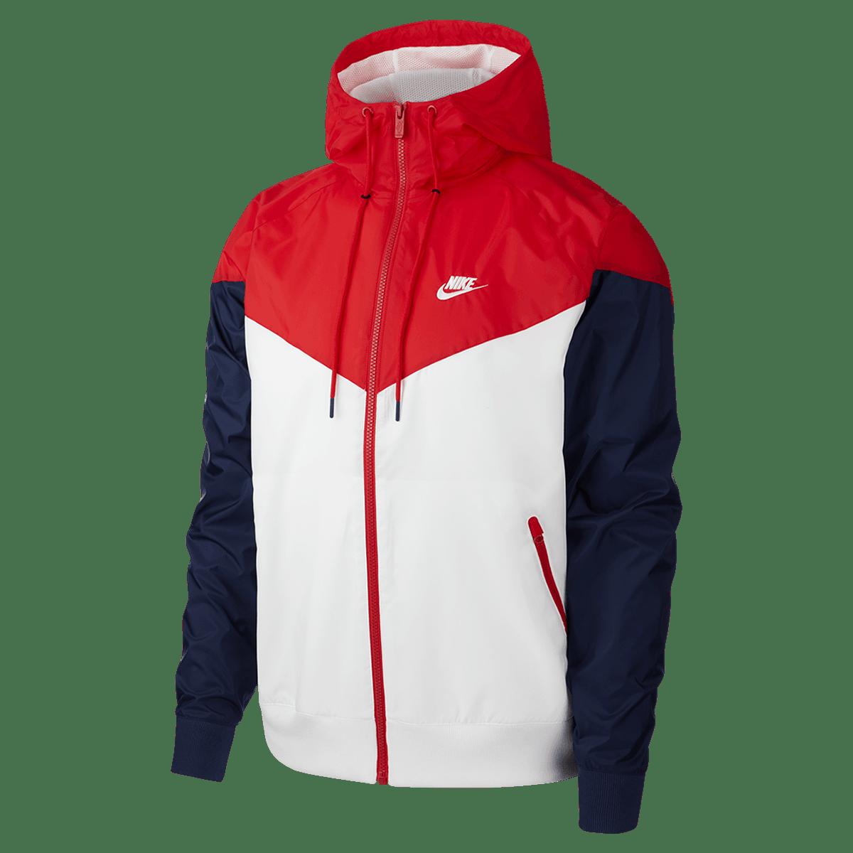 Veste à capuche Nike Sportswear Windrunner blancrouge Boutique football
