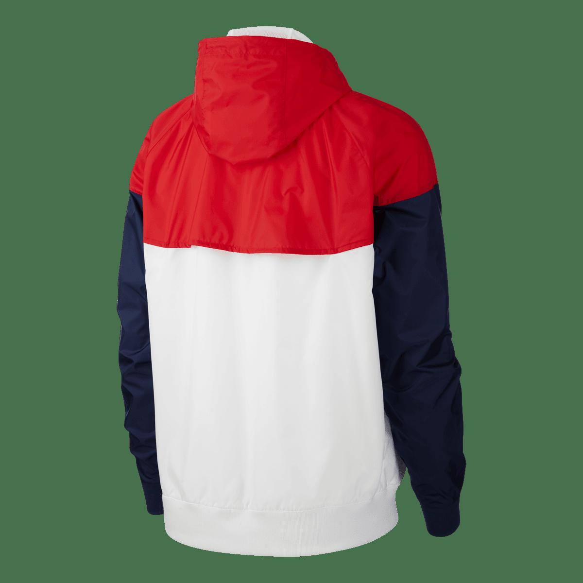 Veste à capuche Nike Sportswear Windrunner blancrouge