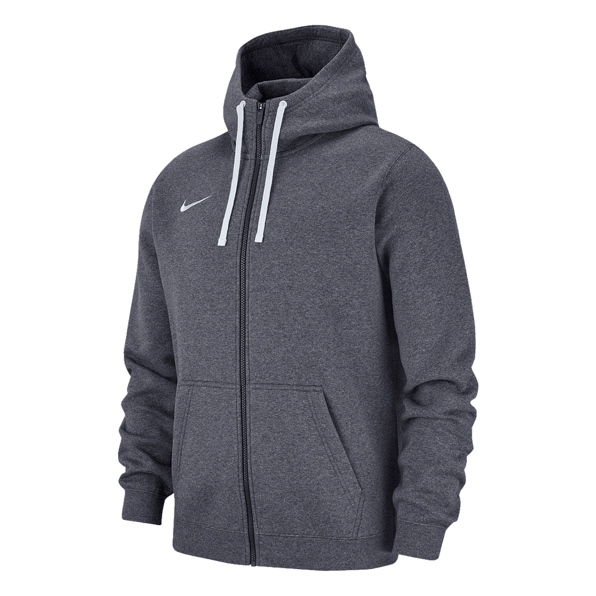 Nike Kapuzenjacke Team Club 19 Fleece Hoody grauweiß