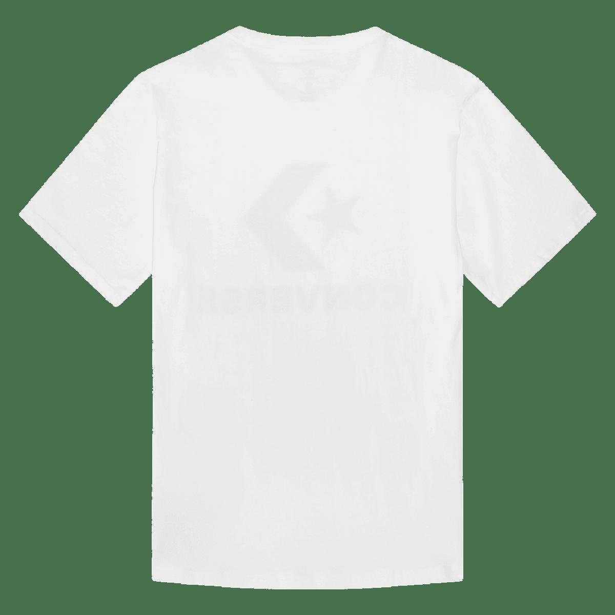 Converse T Shirt Herren Star Chevron Tee 10018568 102 Weiss