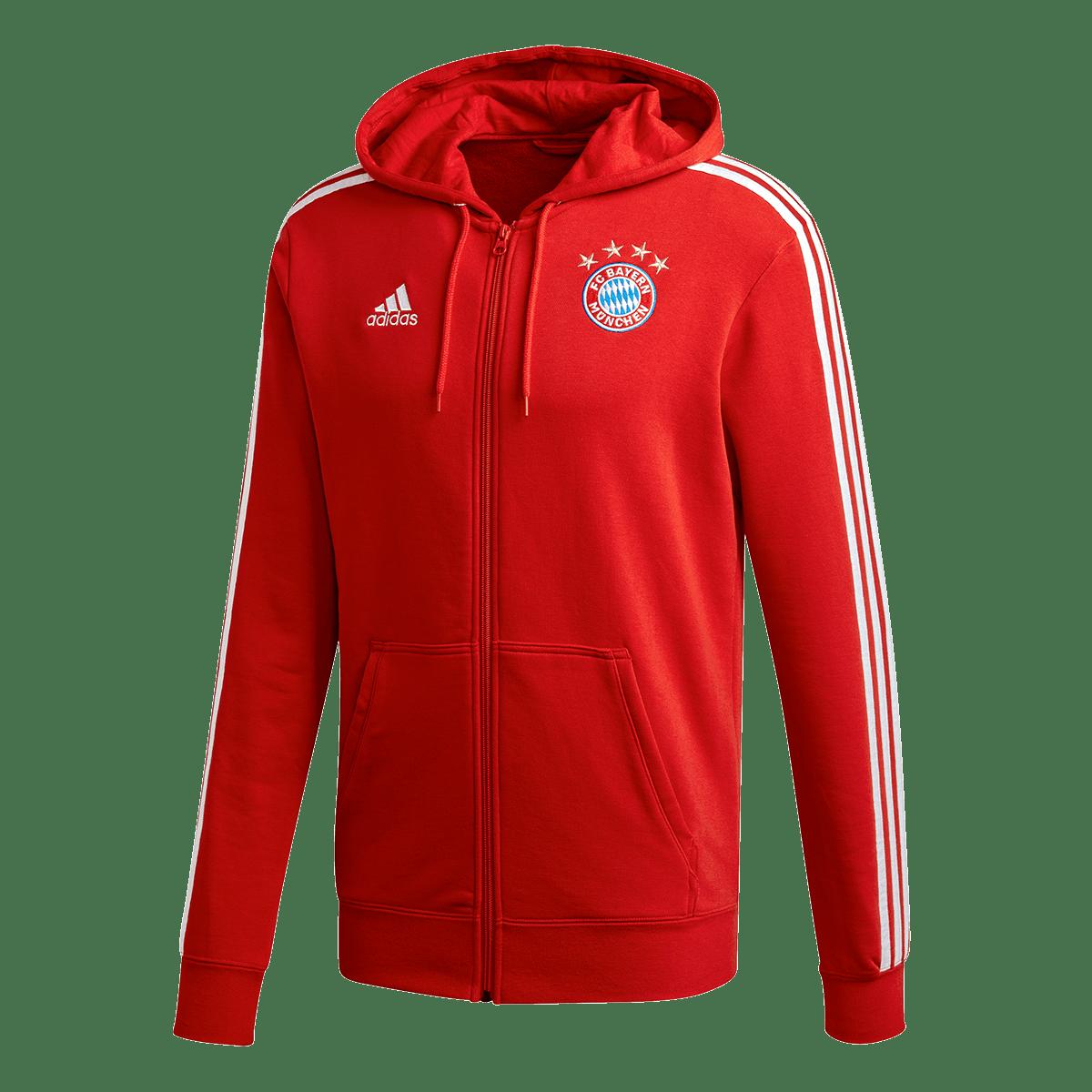 adidas FC Bayern München Kapuzenjacke rotweiß