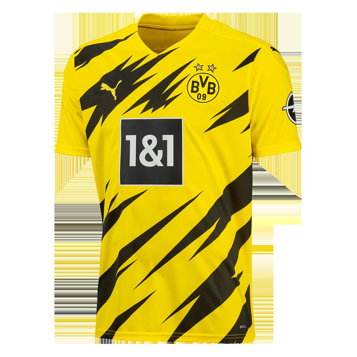 Puma Bvb Herren Heim Trikot 2020 21 Gelb Schwarz Fussball Shop