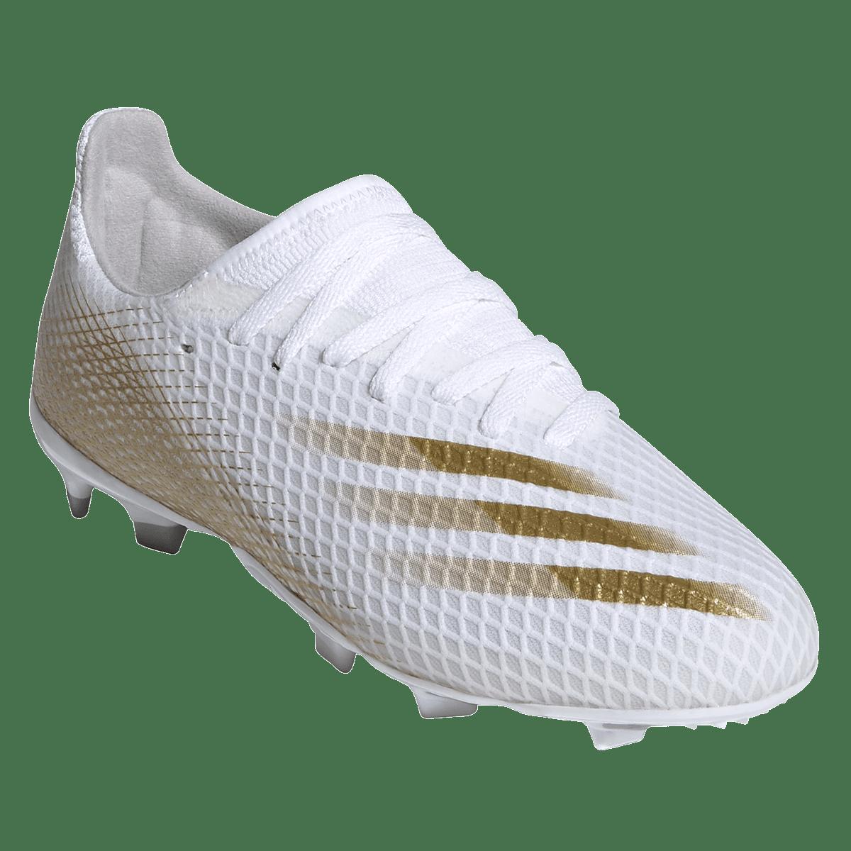 Chaussure de football adidas pour enfants X Ghosted.3 FG J blanc / or