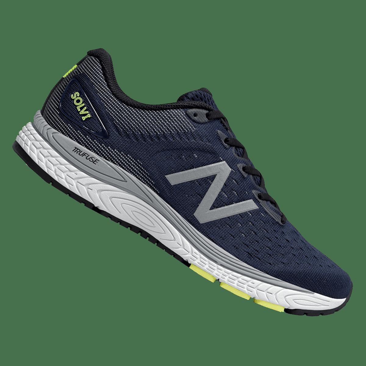 Chaussures de course à pied New Balance Tech Run Solvi v2 bleu foncé/gris
