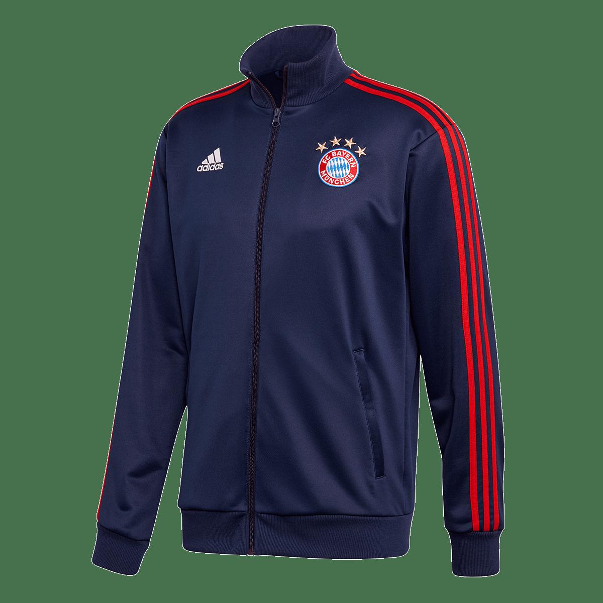 adidas FC Bayern München Trainingsjacke 3S Track Top dunkelblaurot