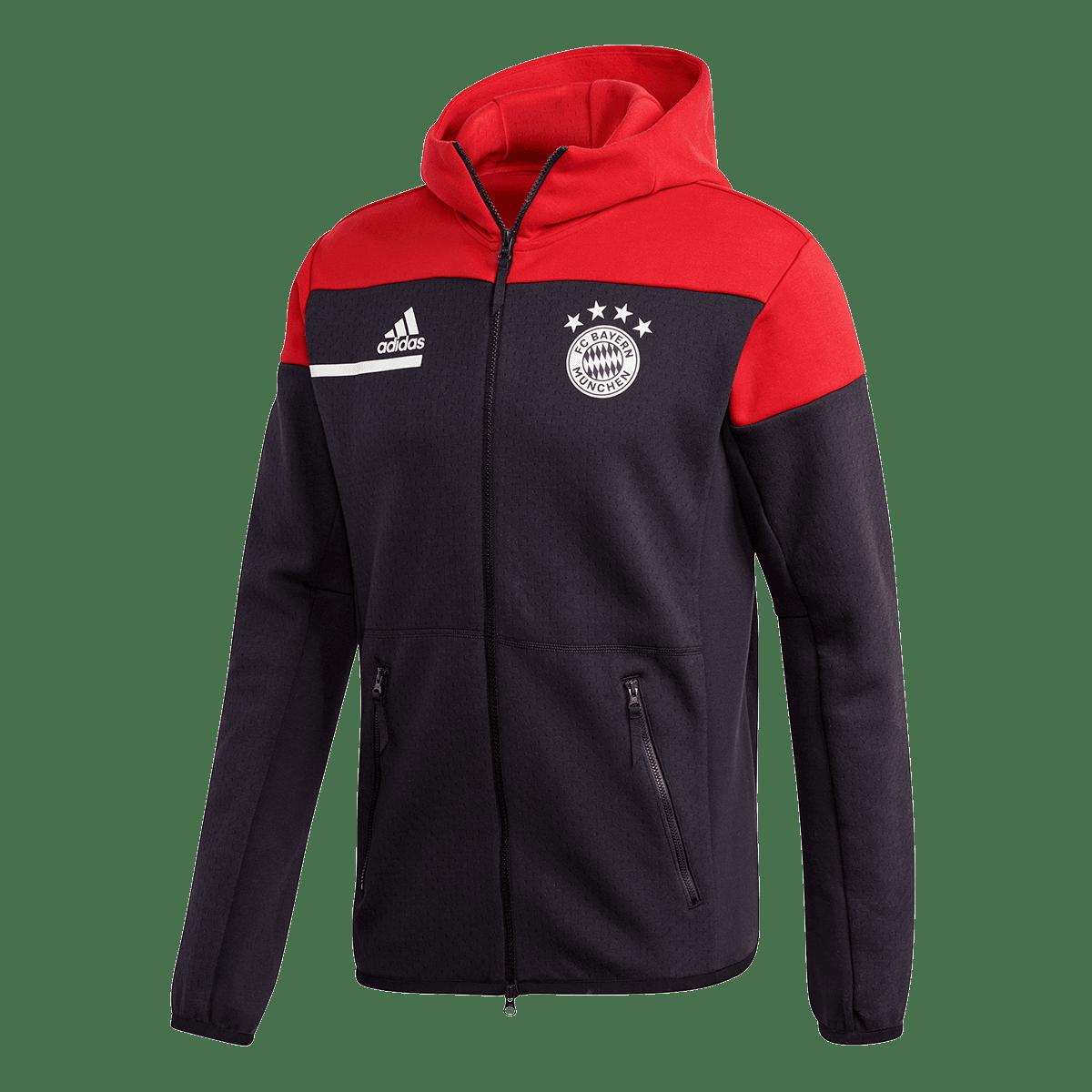 adidas FC Bayern München Kapuzenjacke ZNE schwarzrot