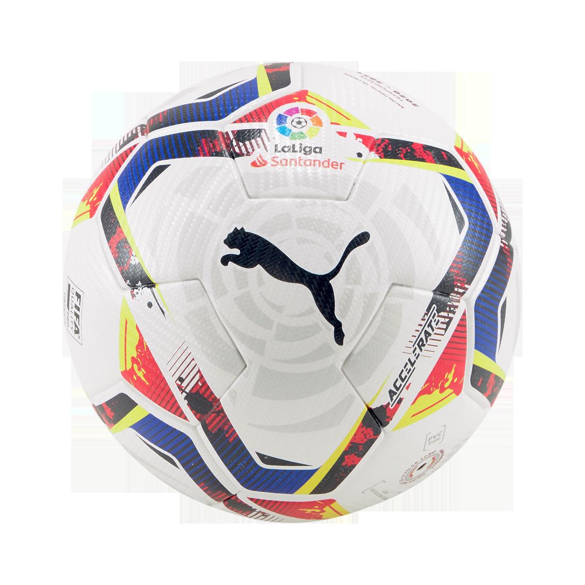 Ballon de football Puma LaLiga 1 Accelerate WP taille 5 blanc/bleu foncé