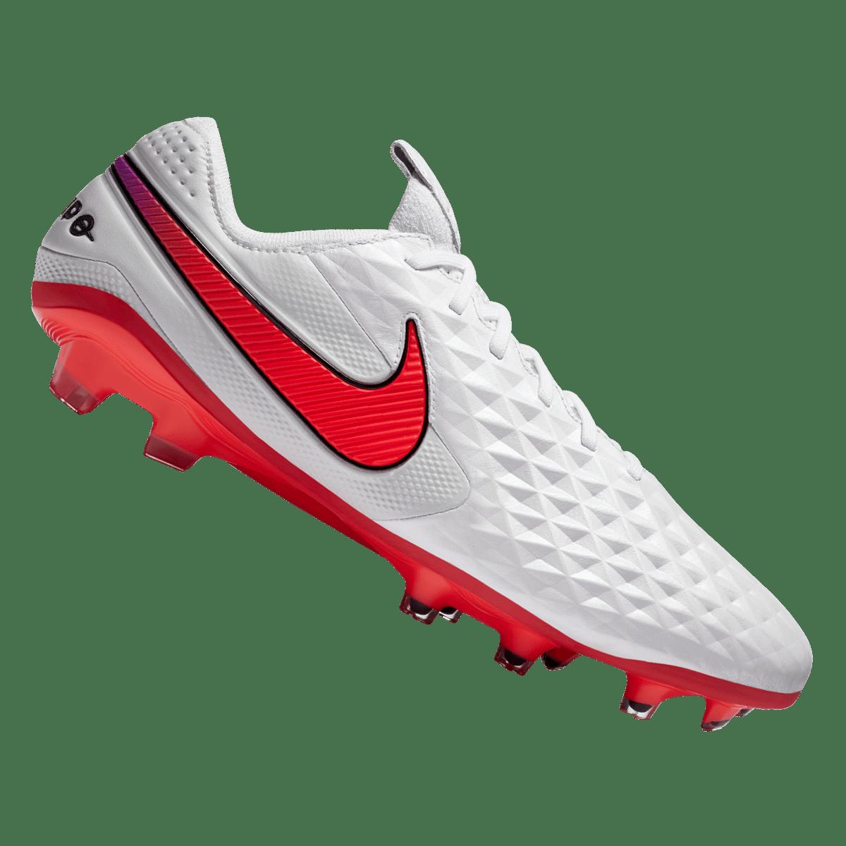 Chaussure de football Nike Tiempo Legend VIII Elite FG blanc/orange