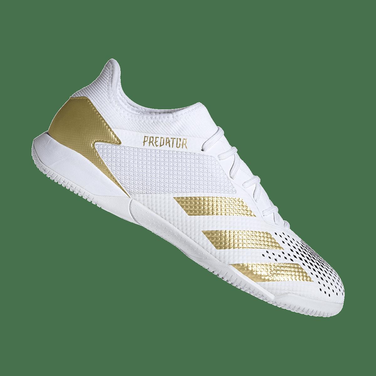 Chaussures de salle adidas Predator 20.3 IN blanc/or