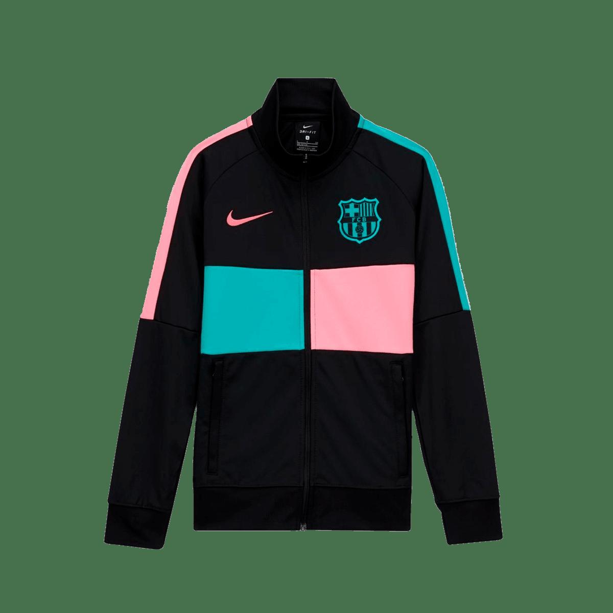 Nike FC Barcelona Kinder Fanjacke I96 Anthem Jacket schwarzgrün