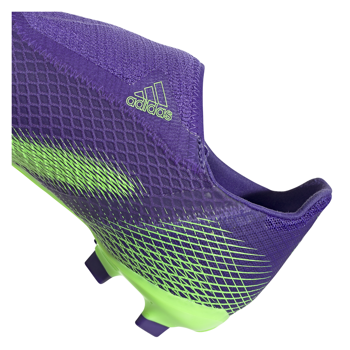Chaussure de football adidas enfant X Ghosted.3 LL FG violet / vert fluo
