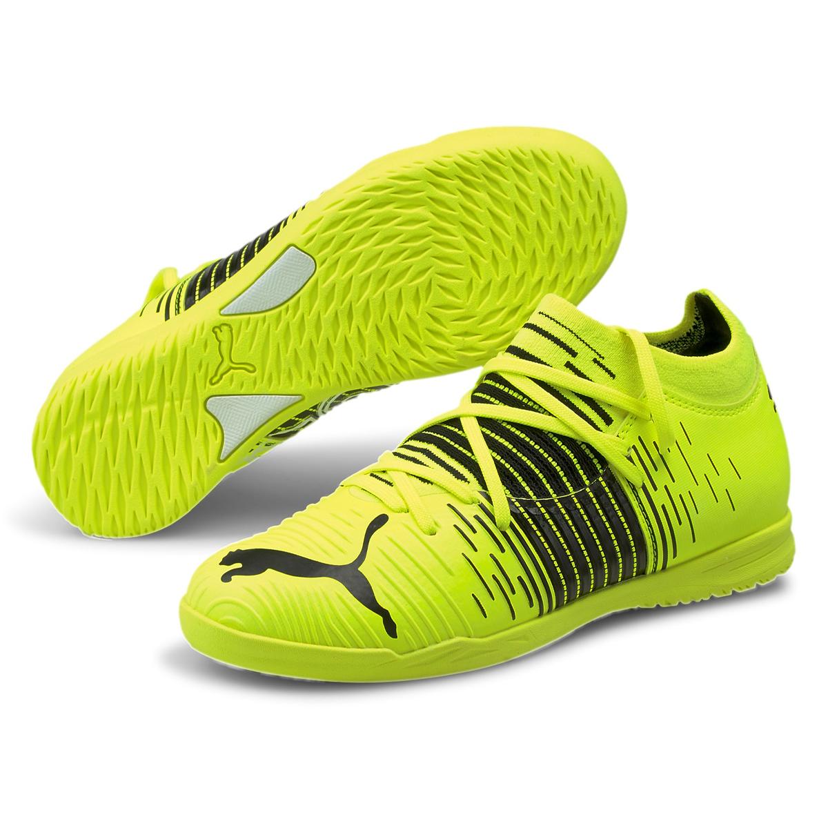 Chaussures de salle Puma pour enfant Future Z 3.1 IT Junior jaune/noir