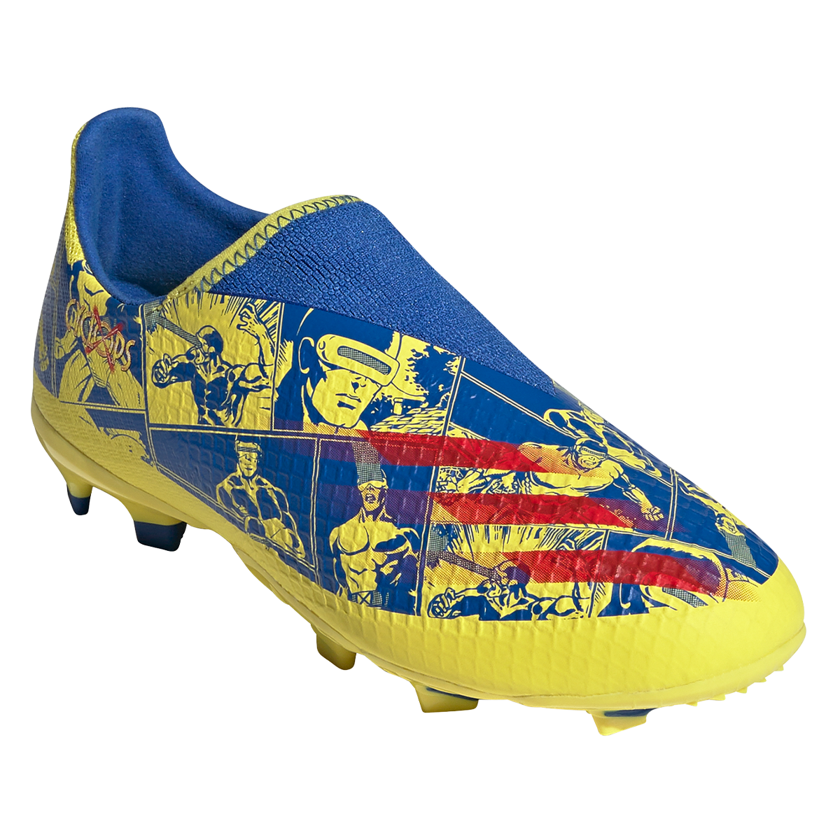 Chaussure de football adidas pour enfants X Ghosted.3 FG LL bleu / jaune
