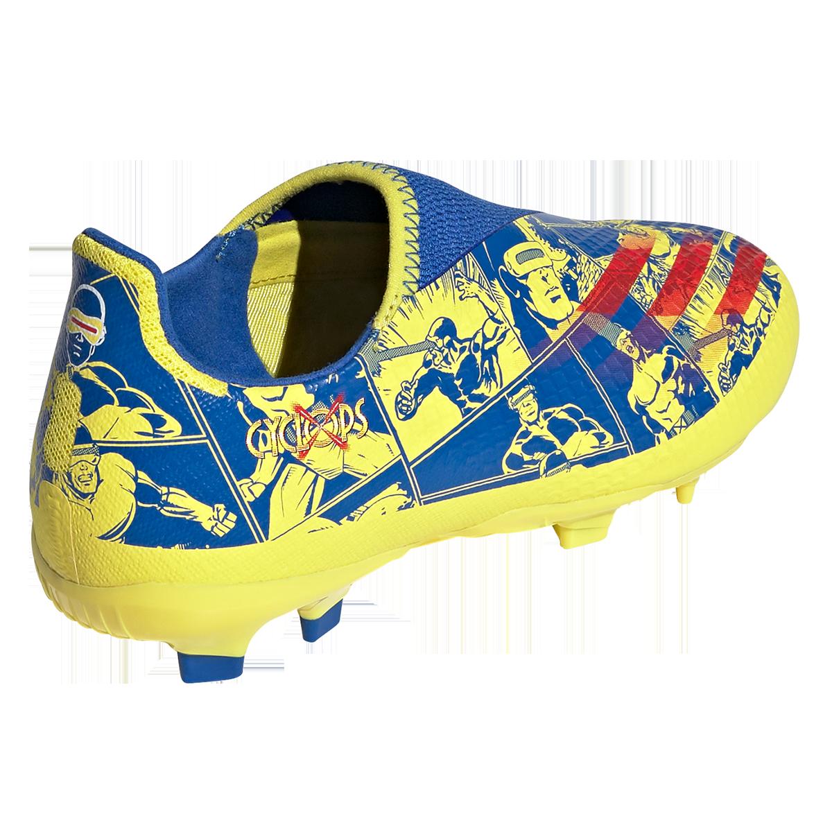Chaussure de football adidas pour enfants X Ghosted.3 FG LL bleu ...