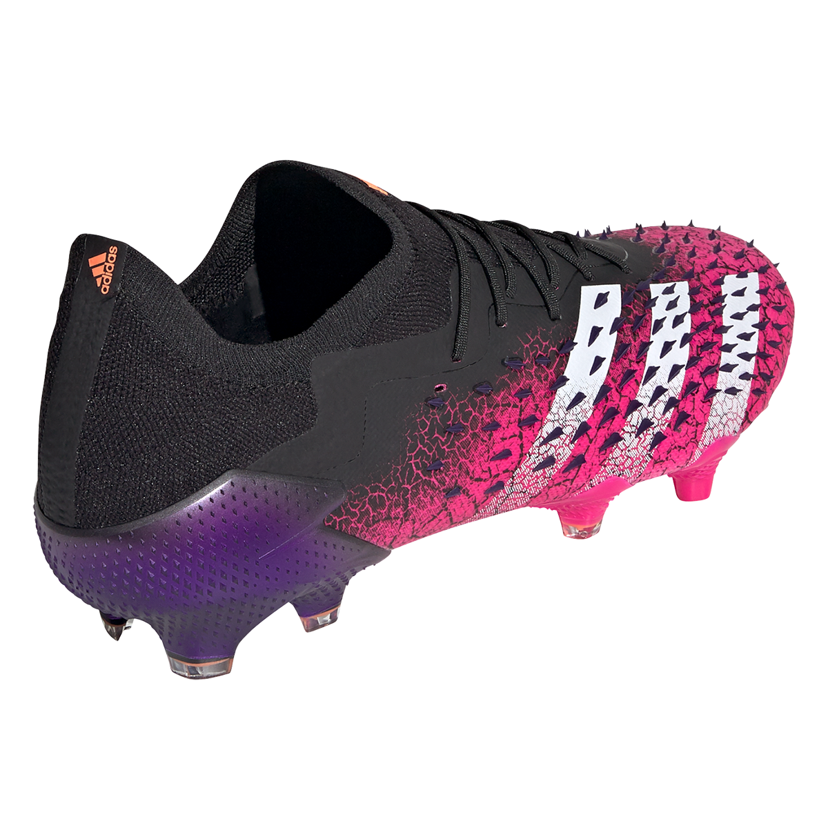 Chaussure de football adidas Predator Freak .1 L FG noir / rose ...