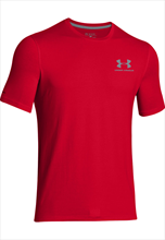 Under Armour Sport style Left Chest Lock-Up- red