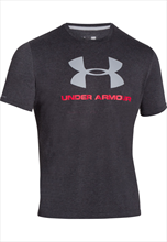 Under Armour Shirt Sportstyle Logo schwarz/rot