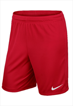 Nike Park II Knit Shorts- without inner slip- red/white