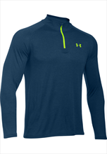Under Armour Trainings Top Tech 1/4 Zip dunkelblau/grün
