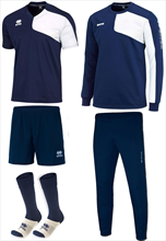 Errea trainingsset 5-delig blauw/wit