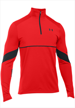 Under Armour Trainings Top Pitch 1/4 Zip rot/schwarz
