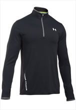 Under Armour Trainings Top Knit 1/4 Zip schwarz/weiß