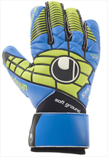 Uhlsport Torwarthandschuhe Eliminator Soft HN COMP blau/gelb