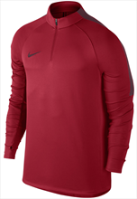 Nike Trainings Top Squad Dril Top dunkelrot/rot