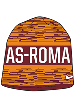 Nike AS Roma Reversible Beanie orange/rot