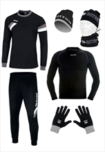 Errea 6-piece Winter Set black/white