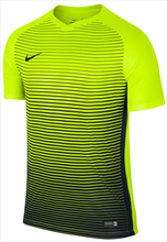 Nike shirt Precision SS Jersey geel fluo/donkerblauw