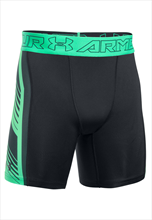 Under Armour Funktionsshort HeatGear Supervent 2.0 Comp schwarz/grün fluo